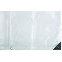Suojapeite ETC Leno 6x8m 225g/m² läpikuultava valkoinen