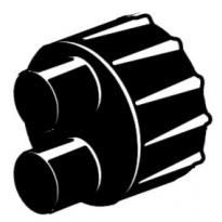 Päätykutiste 110 mm kaksiputkinen Rauheat