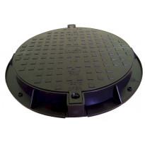 Muovinen kaivon kansi Ginmika ∅600 mm, musta