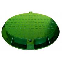 Muovinen kaivon kansi Ginmika ∅600 mm, vihreä