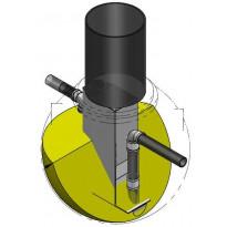 Öljynerotin RoadPipe NS3, 1-luokka, sisältää hälyttimen, korkeus 1500 mm
