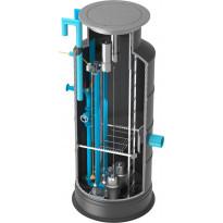 Jätevesipumppaamo RoadPipe 800/800, 1 pumpulla, 380V keskus, paineanturi