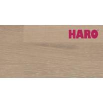 Parketti HARO 4000 Tammi Pearl Grey Tundra, 3-sauva, harjattu, lakattu