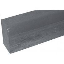 Upotettava reunakivi Rudus H1, suora, 1000x170x300mm, sileä, harmaa