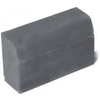 Upotettava reunakivi Rudus H2, suora kupera, 500x170x300mm, sileä, harmaa
