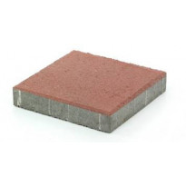 Betonilaatta Rudus, 298x298x50mm, sileä, punainen