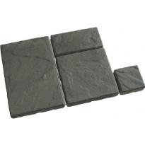 Pihalaattasarja Rudus Tosca-laatat, 55mm, profiloitu, musta