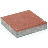 Pihakivi Rudus Kartanolaatta 60, 278x278x60mm, sileä, punainen