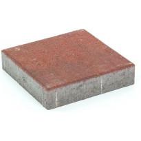 Pihakivi Rudus Kartanolaatta 60, 278x278x60mm, sileä, punamusta