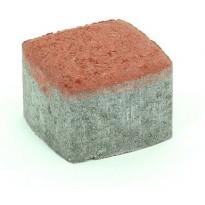 Pihakivi Rudus Klassikko neliö 80, 115x115x80mm, sileä, punainen