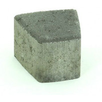 Pihakivi Rudus Klassikko iso kaarre 80, 110x115x80mm, sileä, musta