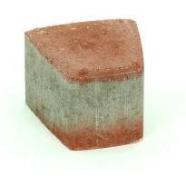 Pihakivi Rudus Klassikko iso kaarre 80, 110x115x80mm, sileä, punainen