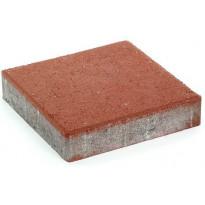 Pihakivi Rudus Kartanolaatta 80, 278x278x80mm, sileä, punainen