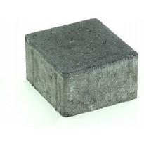 Pihakivi Rudus Kartanonoppa 80, viisteetön, 137x137x80mm, sileä, musta