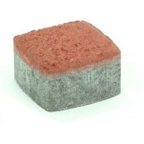 Pihakivi Rudus Klassikko neliö 60, 115x115x60mm, sileä, punainen