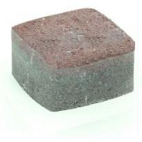 Pihakivi Rudus Klassikko neliö 60, 115x115x60mm, sileä, punamusta