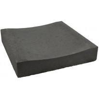 Betonikourulaatta Rudus, 418x420x80mm, sileä, musta