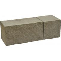 Muurikivi Rudus Antikko, 330x165x165mm, profiloitu, harmaa