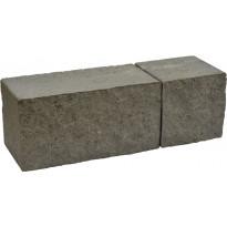 Muurikivi Rudus Antikko, 330x165x165mm, profiloitu, musta