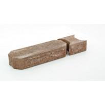 Muurikivi Rudus Aitakivi kansipari, 560x200x100mm, sileä, hiekanruskea