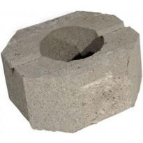 Muurikivi Rudus Aitakivi päätykivi, 200x200x100mm, sileä, harmaa