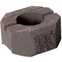 Muurikivi Rudus Aitakivi päätykivi, 200x200x100mm, sileä, ruskea