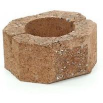 Muurikivi Rudus Aitakivi päätykivi, 200x200x100mm, sileä, hiekanruskea