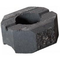 Muurikivi Rudus Aitakivi päätykivi, 200x200x100mm, sileä, musta