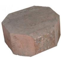 Muurikivi Rudus Aitakivi kansipääty, 200x200x100mm, sileä, punamusta