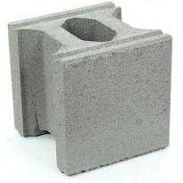 Muurikivi Rudus Paasikko peruskivi, 280x280x280mm, sileä, harmaa