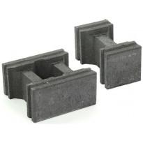 Muurikivi Rudus Paasikko peruskivet, 280x140mm, sileä, musta