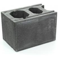 Muurikivi Rudus Paasikkomuurin kulma/pääty, 420x280x280mm, sileä, musta