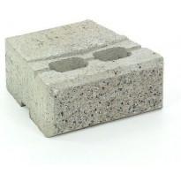 Muurikivi Rudus Muurikko peruskivi, 235x235x100mm, sileä, harmaa