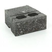 Muurikivi Rudus Muurikko peruskivi, 235x235x100mm, sileä, musta