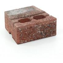 Muurikivi Rudus Muurikko peruskivi, 235x235x100mm, sileä, punamusta