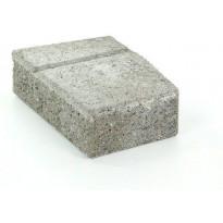 Muurikivi Rudus Muurikko kulmakivi, 352x235x100mm, sileä, harmaa