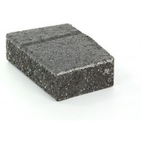 Muurikivi Rudus Muurikko kulmakivi, 352x235x100mm, sileä, musta