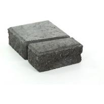 Muurikivi Rudus Muurikko päätypari, 100mm, sileä, musta