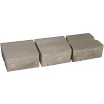 Muurikivi Rudus Muurikko kaarrekivet, 235x235x100mm, sileä, harmaa