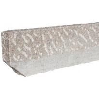 Graniittireunakivi Rudus R80, 1000x80x250mm, karkeahakattu, punainen