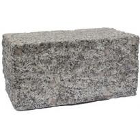 Graniittimuurikivi Rudus Muurikas, 280x140x140mm, lohkottu, harmaa