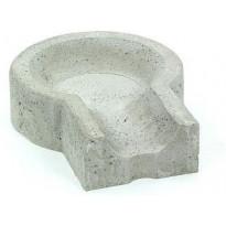 Loiskekuppi Rudus Kevyt 125, 440x195x100mm, sileä, harmaa