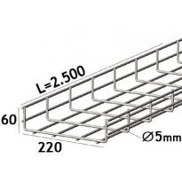Lankahylly sähkö Zn 2.5m 320/60/5mm