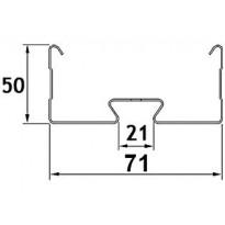 Valaisinripustuskisko MEK-70 K 6m