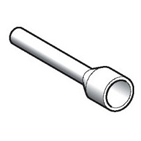 Pääteholkki DZ5CE005 0,5 mm2 valkoinen