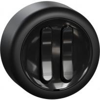 5-kytkin Renova pinta-asennus musta