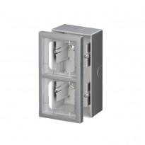 Pintakotelo ABB Impressivo - 2OS/IP20 54/80mm alumiini