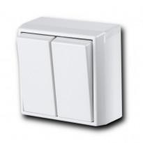 Kytkin Ensto Intro - 5/10A/250V/IP21 PPJ LI valkoinen