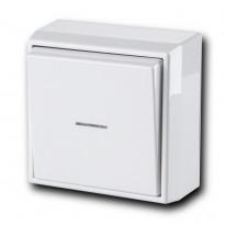 Painike Ensto Intro - 6/10A/250V/IP21 PPJ LI valkoinen