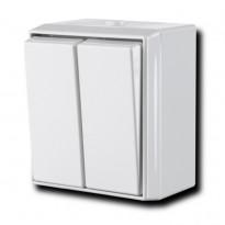 Kytkin Ensto Intro - 5/10A/250V/IP44 PPJ valkoinen